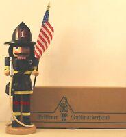 """ULBRICHT GERMAN WOODEN  NUTCRACKER """"FIREFIGHTER""""  32 523 NEW"""