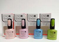 Cnd Creative Nail Shellac Gel Polish Spring Assorted Colors .25oz/7.3ml