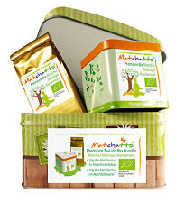 BIO BUNDLE - 100g Matchatto Geschenkbox (Organic Matcha, Moringa & Kardamom Tee)