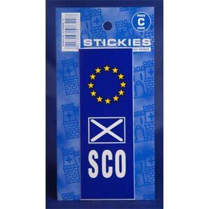 St-Andrews-amp-SCO-europlate-Pegatina-placa-Euro-Vinilo-Castillo-promociones-coche