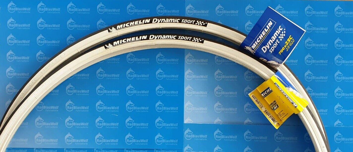 2x Michelin Dynamic Sport Draht 28 700x23 23-622 Fahrrad Reifen  Schwarz-Rot