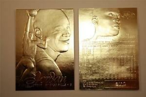 MICHAEL-JORDAN-1996-97-Fleer-FLAIR-SHOWCASE-23KT-Gold-Card-Sculptured-NM-MT