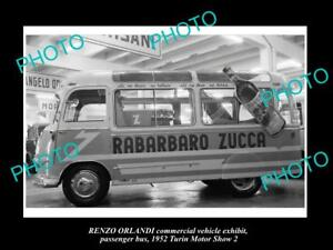 OLD-LARGE-HISTORIC-PHOTO-OF-1952-RENZO-ORLANDI-BUS-TURIN-MOTOR-SHOW-DISPLAY-3