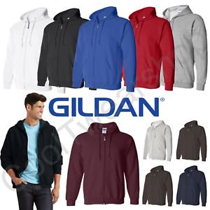 Gildan-Mens Sweatshirts-Hoodies-HeavyBlend Full Zip Hooded Sweatshirt