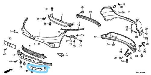Genuine HONDA CIVIC 5 /& 3 portes avant droit inférieur pare-chocs spoiler 2006-2011 Neuf