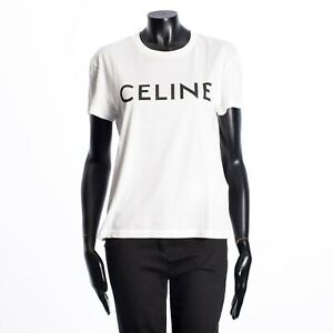 CELINE-540-Classic-White-Crewneck-T-shirt-in-CELINE-printed-jersey