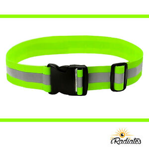 Neon Green Hi Vis Reflective Safety Lightweight PT Belt Yellow US Army Military