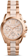 NEW MICHAEL KORS MK6066 ROSE GOLD BRADSHAW MINI WATCH - 2 YEAR WARRANTY