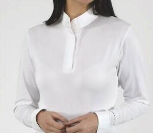 Aubrion Long Sleeve stock Show Shirt UK 6 extra small XXS white