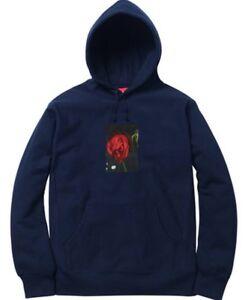 576b5b22 Supreme Araki Rose Hooded Sweatshirt Navy Size Large Hoodie FW16 Box ...