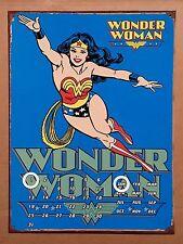 DC Comics Wonder Woman Blue - Tin Metal Perpetual Calendar