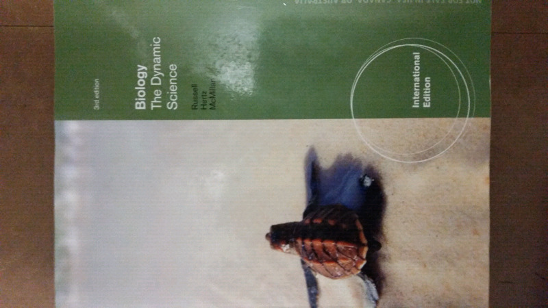 Biology: The Dynamic Science Textbook (3rd edition) for sale