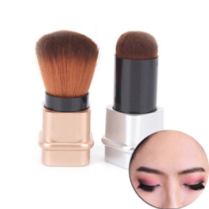 Cosmetic-Retractable-Foundation-Makeup-Brush-Blusher-Face-Powder-Brushes-Tool-SW