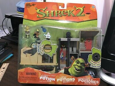 2004 Shrek 2 Secret Potion Lab Playset Mini Figures Nib Ebay