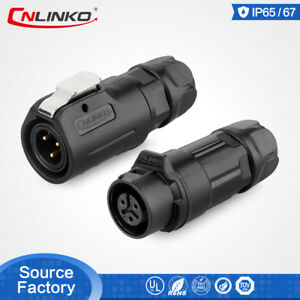 CNLinko-M12-3-Pin-Waterproof-Connector-5A-Plastic-Soldering-Male-Female-Outdoor
