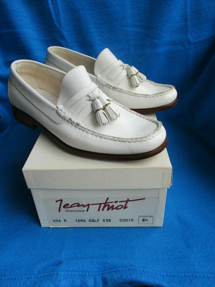 Hommes Chaussures Marque Jean Thiot/france, Taille 6,5, En Cuir Véritable, Jamais Porté