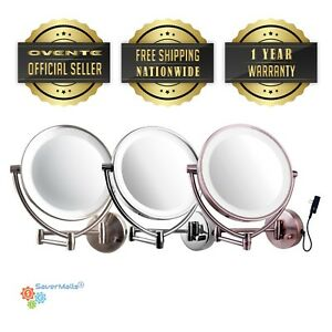 Ovente 9 5 Inch Led Wall Mount Lighted Mirror 1x10x