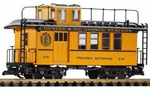 PIKO-G-SCALE-D-amp-RGW-DROVERS-CABOOSE-215-YELLOW-38602