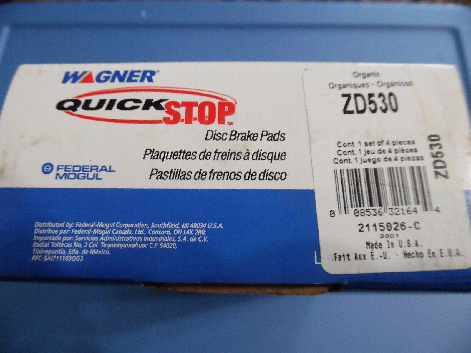 Disc Brake Pad Set-QuickStop Disc Brake Pad Front Wagner ZD530