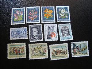 Osterreich-Briefmarke-yt-N-1044-1045-1048-A-1057-Gestempelt-A5-Austria