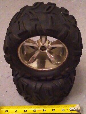 "Traxxas 5672 Paddle Tires 3.8/"" Mounted Tires 17mm Geode Wheels E-Revo E-Maxx 2"