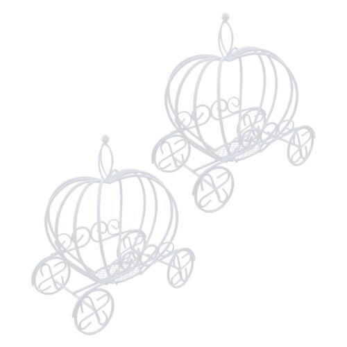 2x Kürbiswagen Draht Kranz Blumentopf Metall Pflanzer Box Dekorative