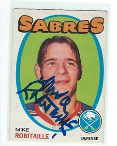 Mike Robitaille Signed 1971/72 O-Pee-Chee Rookie Card #8