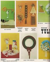 Macrame Bell Pull, Tree Towel Holder & More Patterns In Yule Tied Book Pd1142