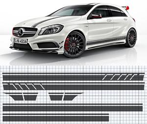 Fits Mercedes W176 A-Class AMG Side,roof,bonnet stripe set EDITION 1 style A45