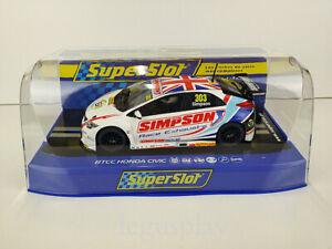 Slot-Scx-Scalextric-Superslot-H3915-Btcc-Honda-Civic-Typ-R-Matt-Simpson-n-303