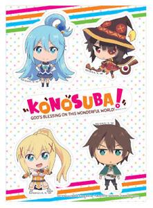 KonoSuba Aqua Darkness Megumin Sato Kazuma group acrylic stand figure toy