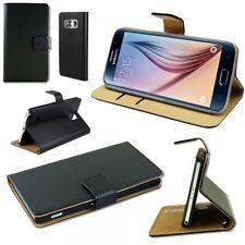 Wallet Deluxe Tasche Schwarz für Samsung Galaxy S6 G920 G920F Hülle Case Cover