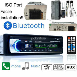 1-DIN-Car-Stereo-12V-FM-Radio-SD-USB-AUX-Bluetooth-Remote-Head-Unit-MP3-Player