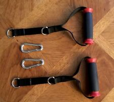 BOWFLEX REVOLUTION HOME GYM HANDLES + PAIR SNAP HOOKS -NEW -FREE SHIPPING!