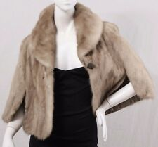 Honey Brown LERNER'S FURS Genuine Plush Mink Fur Shrug Capelet Cape Jacket OS