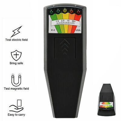 K2 EMF Monitor,KKmoon K2 Electromagnetic Field EMF Gauss Meter Radiation Detector Portable EMF Magnetic-Field Monitor 5 LED Gauss Meter