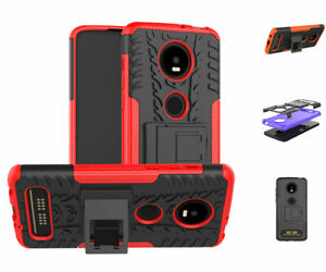 For Motorola Moto Z4 / Z4 Play Shockproof Hard Protective Kickstand Slim Case