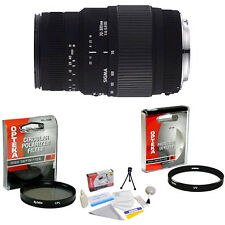 Sigma 70-300mm f/4-5.6 DG Macro Zoom Lens + UV & CPL Filters & More for Sony SLR