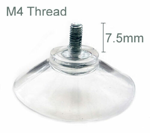 40mm Clear Nut Thumb Screw Suction Cups//Pads Rubber//Plastic Suckers Turn Nut