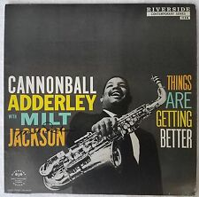 Cannonball Adderley With Milt Jackson - Things Are Getting Better - AUTOGRAPHED