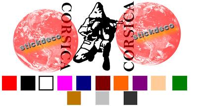 Corse corsica shooter ribellu patriottu decal sticker