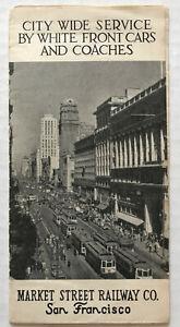 Big-Vintage-1930-039-s-Downtown-SAN-FRANCISCO-Market-Street-Railway-Cable-Car-MAP
