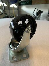 Set Of 4 Swivel Plate Tall Casters Heavy Duty Cast Iron Wheel Metal