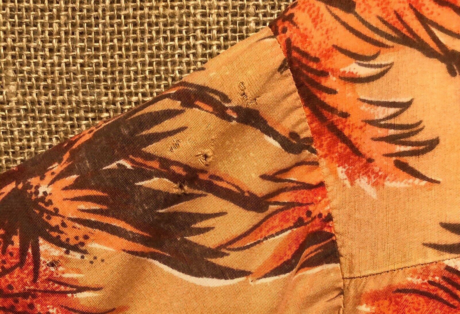 Vintage 1960's Aloha Light Orange Palm Trees Rayo… - image 6