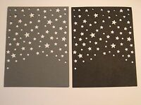 Die Cuts: Starry Night Choose Color Grey Black Red Navy White Assorted