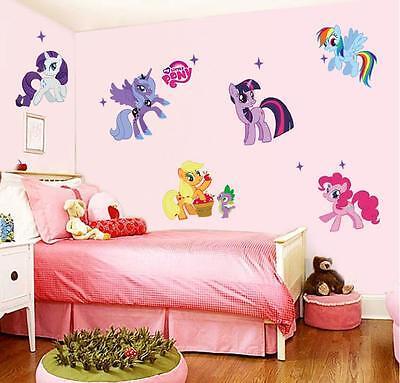 My little pony Family Vinyl Mural Wall Sticker Decals Kids Nursery Decor gift