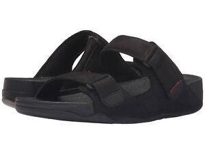 27b090d2b1cb28 Men FitFlop Gogh Moc Adjust Nubuck Sandal Size 12   H81 001 Black