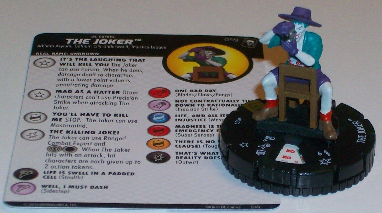 THE JOKER The Joker's Wild DC HeroClix Super Rare