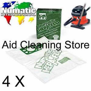 5 x Genuine Numatic HENRY Vacuum Hoover Bags Hetty Cleancare Homecare Hepa Flo