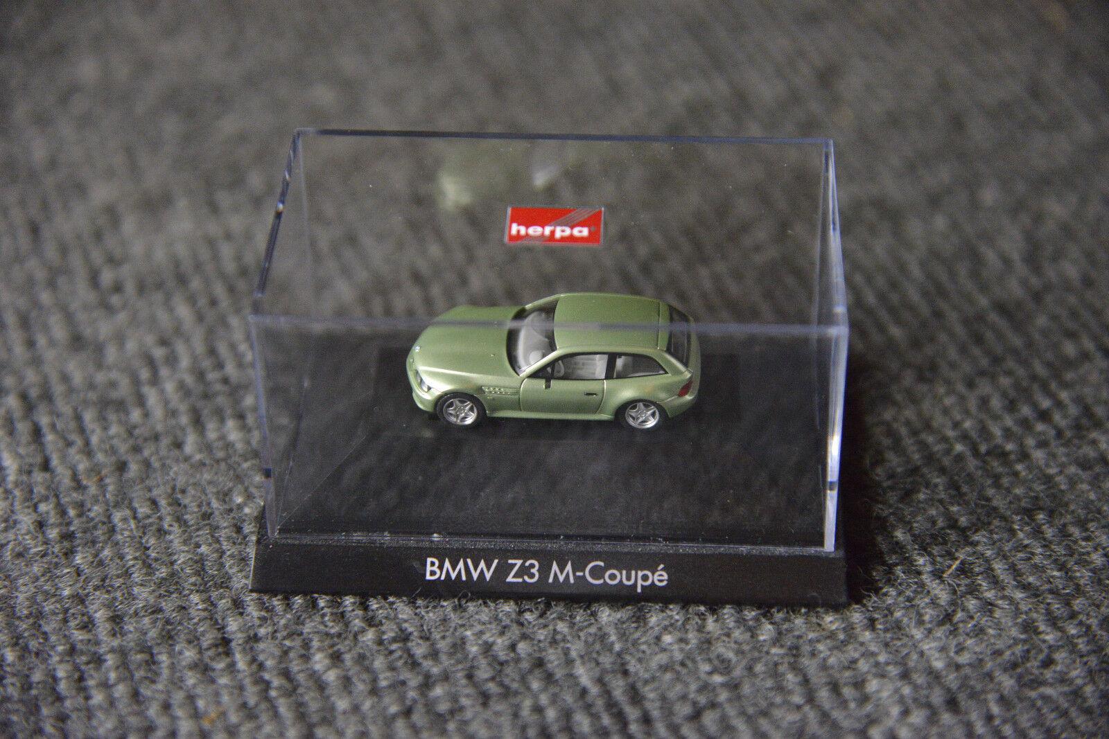 BMW Collection privée M3 M Z3 Coupé Mini Voiture Shop modèle verts allemand concessionnaire